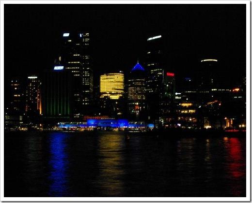 Vivid Circular Quay Sydney Night