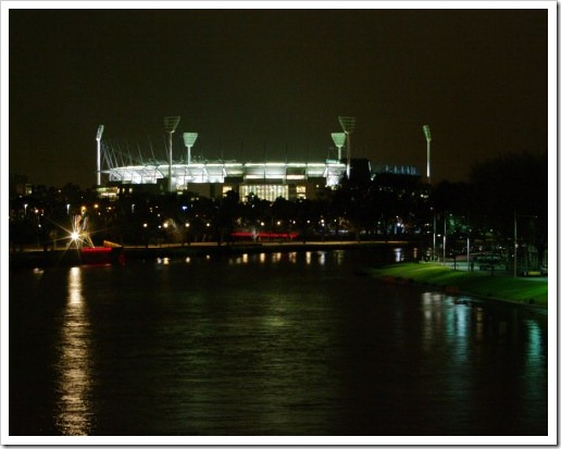 Night MCG and River Yarra