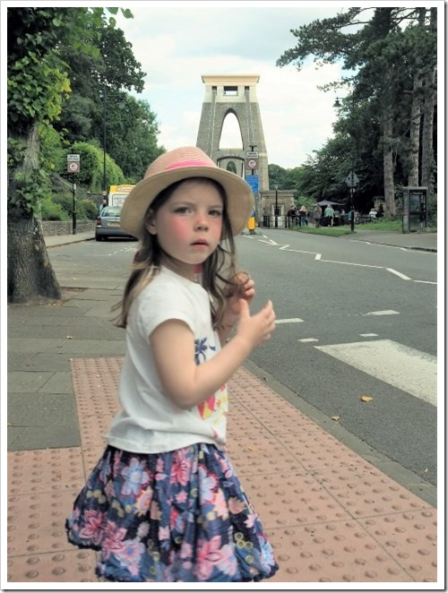 Zoe and the Suspension Bridge