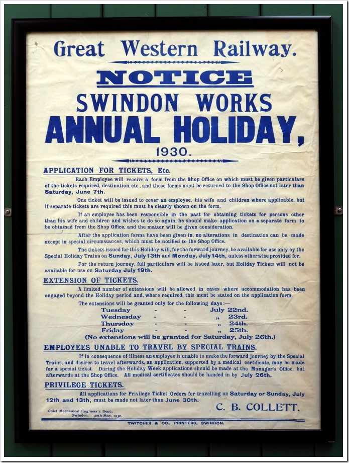 Swindon Works Trip 1930
